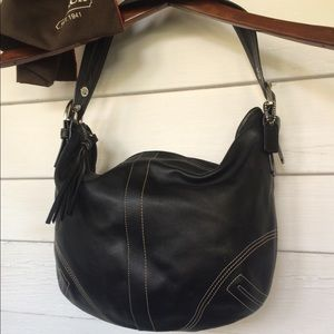 Leather Coach Handbag Hobo shoulder purse bag